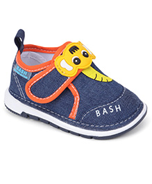 Bash Casual Shoes With Motif On Velcro Closure - Blue