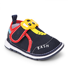 Bash Casual Shoes With Motif On Velcro Closure - Black