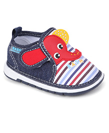 Bash Casual Shoes Elephant Patch With Velcro Closure - Navy & Red
