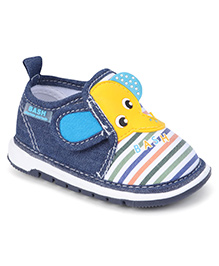 Bash Casual Shoes Elephant Patch With Velcro Closure - Blue & Yellow