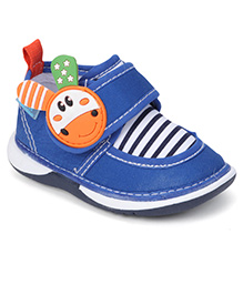 Bash Casual Shoes With Motif On The Velcro Closure - Blue