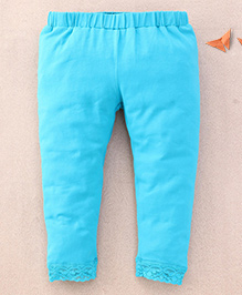 One Friday Legging With Lace On Bottom - Teal Green