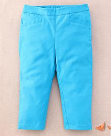 One Friday Cotton Popline Smart Trouser - Teal Blue