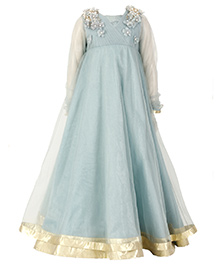 Kidology Mermaid Anarkali Gown - Sea Blue