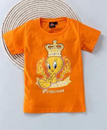 Kuddle Kids Cartoon Print T-Shirt - Orange