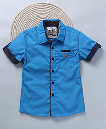 Kuddle Kids Shirt With Dots - Blue & Yellow