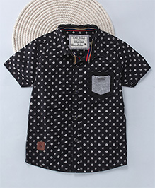 Kuddle Kids Abstract Printed Shirt For Boys - Black