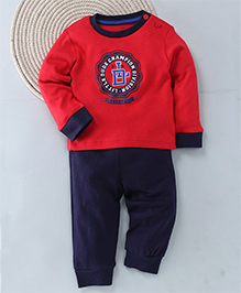 Kuddle Kids Little Dude Champion Division Top & Pajama - Red & Navy Blue