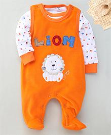 Wonderchild Lion Applique Romper & T-Shirt Set - Orange