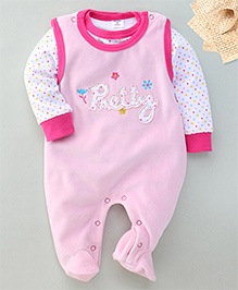 Wonderchild Pretty Applique Romper & T-Shirt Set - Pink