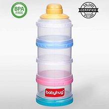Babyhug Milk Powder Container 4 Racks - Blue Pink Yellow