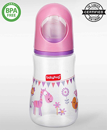 Babyhug Bubble Feeding Bottle Pink - 125 Ml