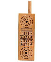 Little Genius Wooden Mobile Phone - Brown