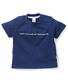 ToffyHouse Half Sleeves T-Shirt - Navy Blue