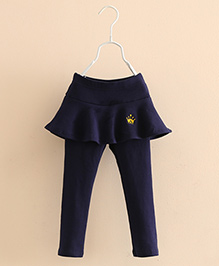 Pre Order - Mauve Collection Cute & Trendy Skirt Leggings For Lil Gals - Blue