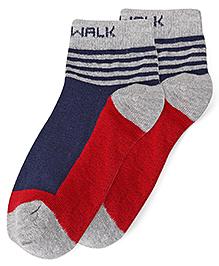 Cute Walk by Babyhug Anti Bacterial Socks - Red Blue