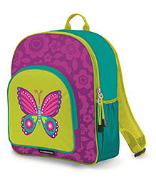 Crocodile Creek Backpack Butterfly Print Purple Green - 14 inches