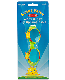 Melissa & Doug Giddy Buggy UV Protected Flip-Up Sunglasses - Green