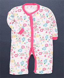 Kidi Wav 3/4Th Daddy'S Little Princess Prints Body Suits - Pink