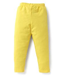 Ollypop Full Length Solid Colour Leggings - Yellow