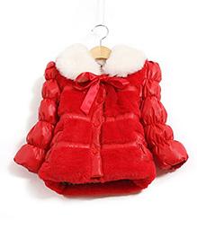 Tickles 4 U Stylish Warm Jacket  -  Red