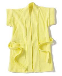 Pebbles Half Sleeves Bathrobe - Yellow
