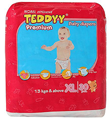 Teddyy Premium Baby Diapers XL - 30 Pieces