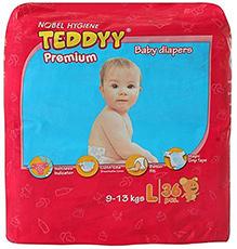 Teddyy Premium Baby Diapers Large - 36 Pieces
