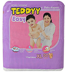 Teddyy Easy Baby Diapers Extra Large - 30 Pieces