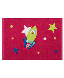 Saral Home Premium Quality Rug Rocket Design - Pink