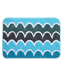 Saral Home Premium Quality Bathmat - Blue