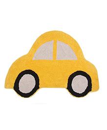 Saral Home Car Shape Bath Mat - Yellow
