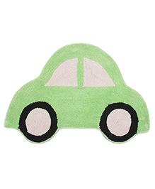 Saral Home Car Shape Bath Mat - Green