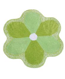 Saral Home Flower Shape Bath Mat - Green