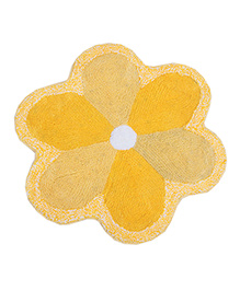 Saral Home Flower Shape Bath Mat - Yellow