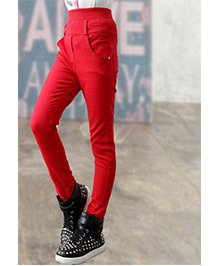 Funky Baby Stretchable Jeggings - Red