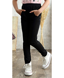 Funky Baby Stretchable Jeggings - Black