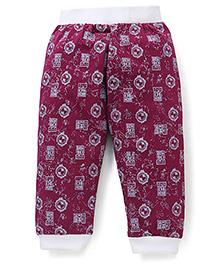 Red Ring Track Pants Ben 10 Print - Magenta