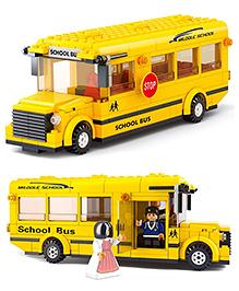 Sluban School Bus Blocks Game - Yellow