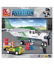 Sluban Aviation Mini Transport Blocks Game - White Green