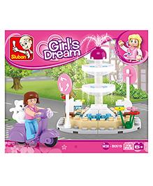 Sluban Girls Dream Fountain Blocks Game - Multi Color