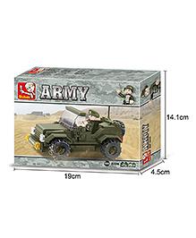 Sluban Land Forces Army Car Blocks Game - Green
