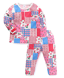 ToffyHouse Full Sleeves Night Suit Multi Print - Multi Color