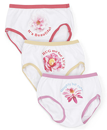 Bodycare Printed Panties Pack of 3 - Red Yellow Pink