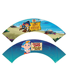 Disney Captain Jake And The Neverland Cupcake Wrappers Pack Of 10 - Blue