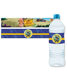 Disney Captain Jake And The Neverland Water Bottle Labels Pack Of 10 - Blue