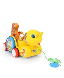 Kids Zone Pull Along Sargam Animal Toy - Yellow