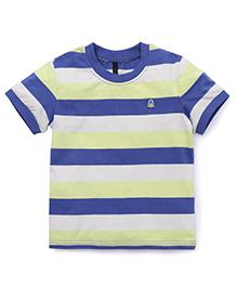 UCB Half Sleeves T-Shirt Stripes Print - Multi Color