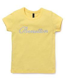 UCB Half Sleeves Tee Benetton Print - Yellow