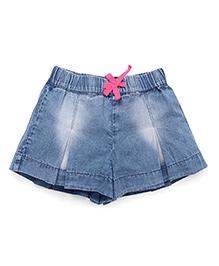 UCB Drawstring Denim Divider Skirt - Blue